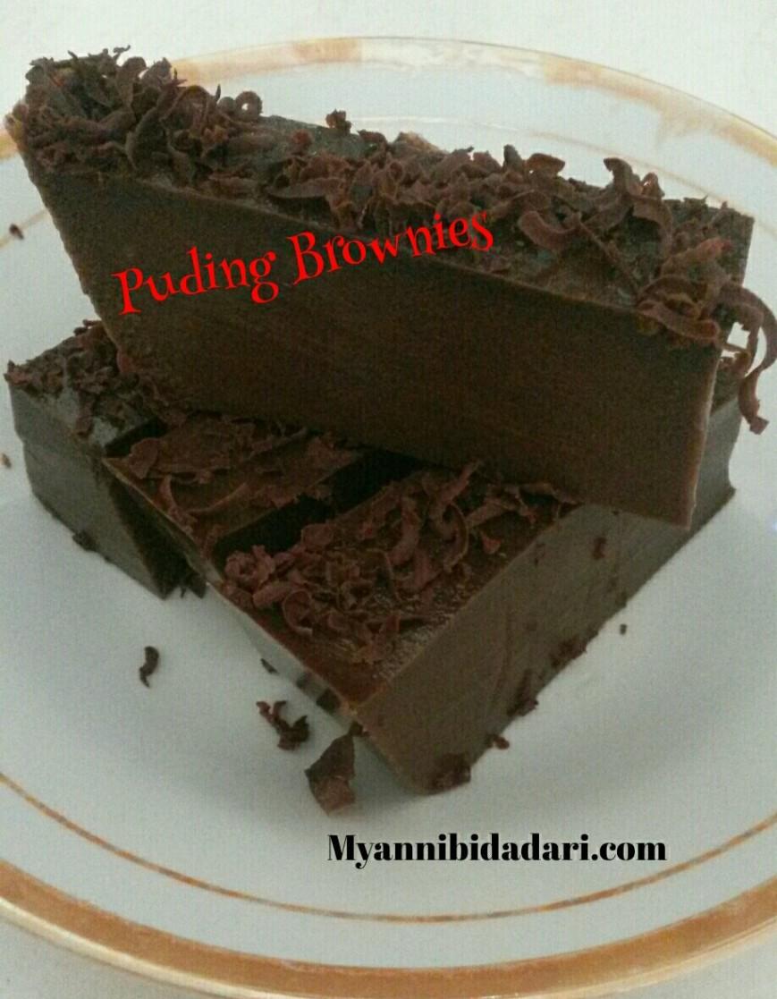 Resep cara membuat puding brownies coklat 1